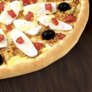 pizza frango com queijo brasiliana